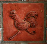 Handmade High Relief 18th Century Rooster