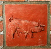 High relief 18th Century Sow