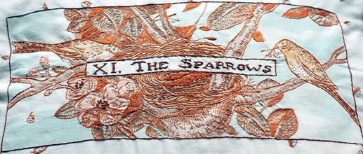 The Sparrows Pillow