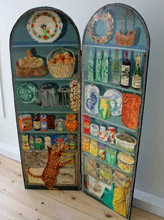Hinged, double-panel, acrylic on wood Pantry Screen