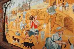 Colored Harvest Mural