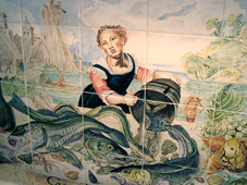 Tish Kitchen Tile Stove Mural